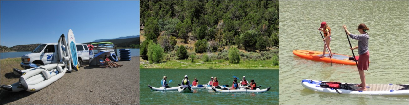 Hourly SUP and Kayak Rentals at Ridgway State Park